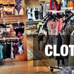 Clothing displays clothing header