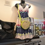 Women's dress and tote display